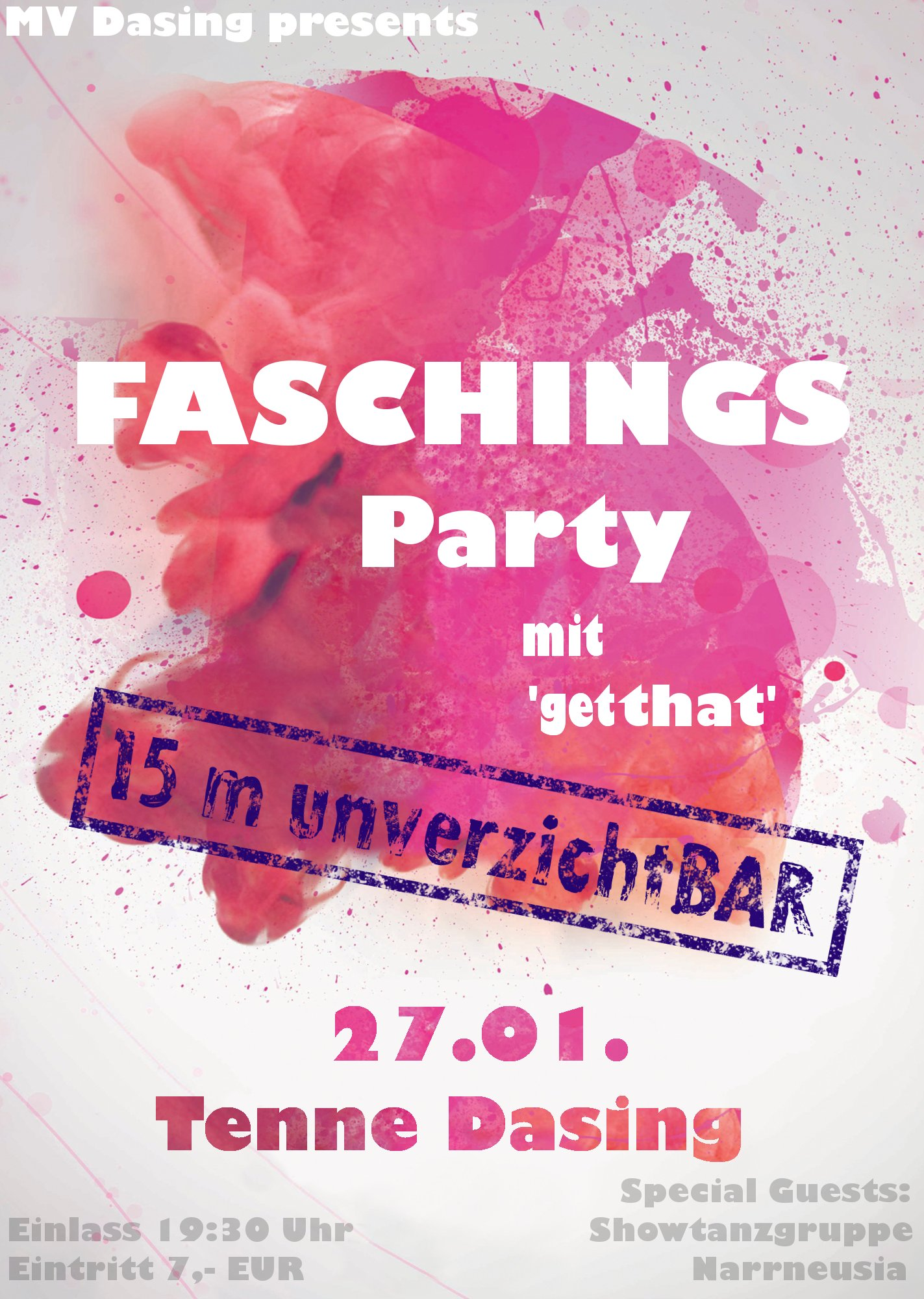 FASCHINGSPARTY TENNE DASING 27.01.2018